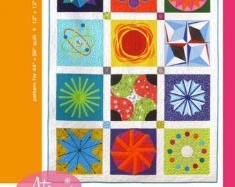 Atomic Starburst Sampler Quilt Pattern by Feed Dog Designs