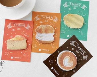 Dessert memo stickers