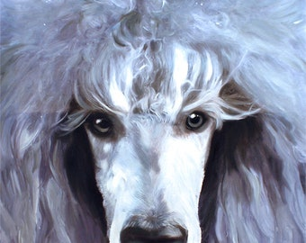 Poodle Gifts, Poodle Art, Poodle Painting, Poodle Dog, Custom Dog Painting from Photo