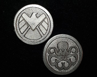 Hydra SHIELD Heads or Tails Pewter Flipping Coin