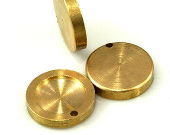 Drop Gemstone Findings 20 PCS Raw Brass 14 mm Pendant finding 10 mm Setting
