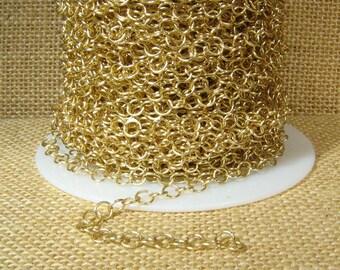 Medium Circle Chain - Matte Gold - CH107 - Choose Your Length