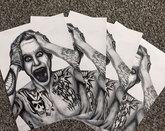 Jared Leto as The Joker Drawing Print