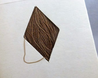 Vintage Mid Century Waxed Thread for Hand Sewing from I. Fleischer 675 Yards Brown Color