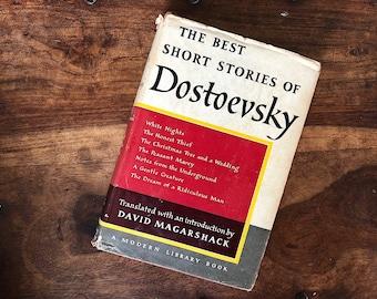 Dostoevsky Short Stories - Vintage Modern Library Random House - Russian Literature Short Stories - Vintage Book Decor Library Literary Gift