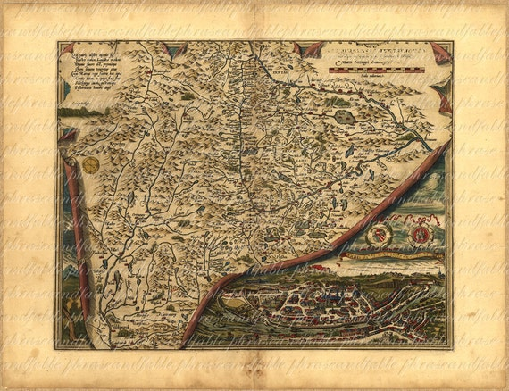 Map of salzburg austria from the 1500s 161 old world map gumiabroncs Images