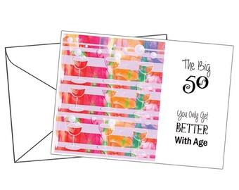 Personalised 50th Birthday Card - Birthday / celebration cards