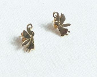 gold fairy earings