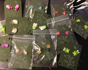 Kids Party Favors, Ear Rings, Silver Surgical Stainless Sterling Post Ear Rings, Party Favors, Gifts, Birthday