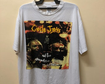 Rare !! Vintage Circle Jerks North American Tour tshirt