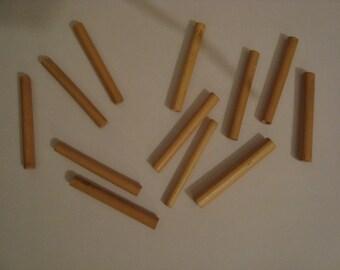 7 long wood beads