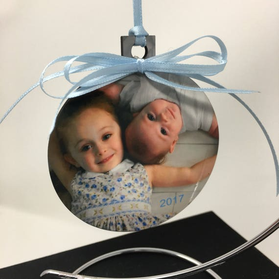Personalized Christmas Ornament, Photo ornament, Personalized ornament, Personalized Baby's 1st Christmas Ornament