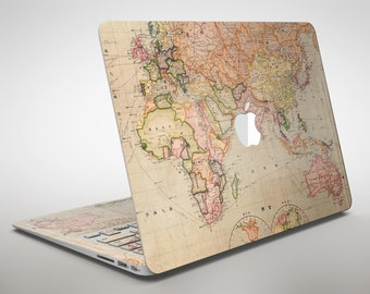 World map decal etsy the eastern world map apple macbook air or pro skin decal kit all versions gumiabroncs Choice Image