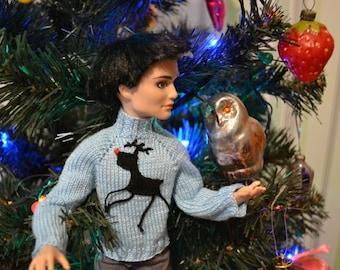 Doll Deer Christmas Sweater
