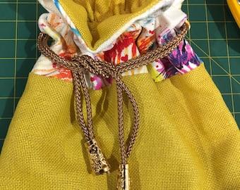 Travel Jewellery Drawstring Bag