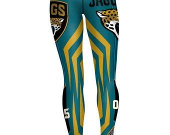 2017  Jacksonville Jaguars  Quality Sports Leggings