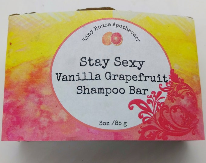 Featured listing image: My favorite murder, ssdgm, mfm, stay sexy, shampoo bar, vanilla grapefruit shampoo, handmade shampoo, tiny house, b5 shampoo, bar shampo