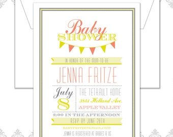 Modern Baby Banner Shower invite