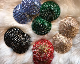 Sample Sale Crystal Burlesque Pasties in 3 sizes