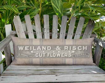 12x36 Inch - READY TO SHIP - Rustic Americana Grain Sack Style Weiland Country Farmhouse Pillow Cover - Long Accent Cushion Cover