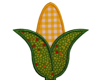 """Corn Cob Appliques Machine Embroidery Designs Applique Pattern in 4 sizes 3"""", 4"""", 5"""" and 6"""""""