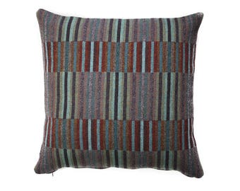 Purple Throw Pillow, Super Soft Merino Wool Cushion   Sofa Decor   Special Gift