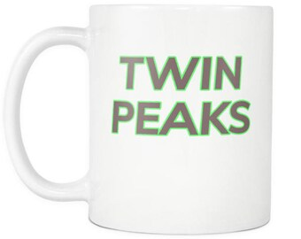 Twin Peaks Title Green and Brown Coffee Mug