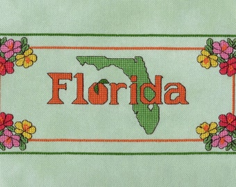 Florida Cross Stitch Chart by RK Portfolio