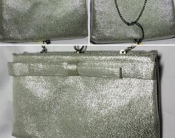After Five Clutch Evening Purse Handbag Silver Vintage New