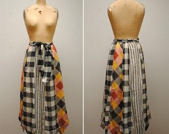 Vintage Chessa Davis Peddler Skirt- Womens Boho Maxi Skirt, Large