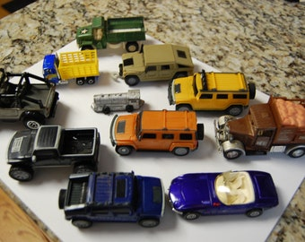 Die Cast Toys-Vintage lot--Trucks and  Trains-Tootsie and Midgetoy-Look