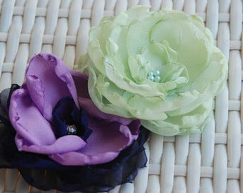 Soft green flowergirl hairclip;wedding hairclip;light green hair flower