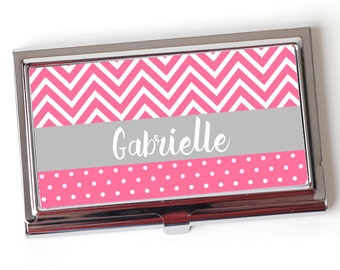 Custom Business Card Case - Personalized Business Card Case - Personalized Geometric Arrow Business Card Case