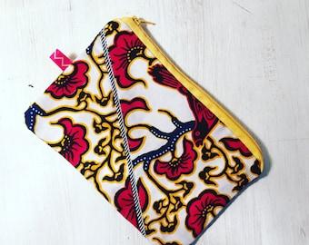 Pouch case bag fabric wax original gift idea 21 x 14 grawoulwax Grawoulwax