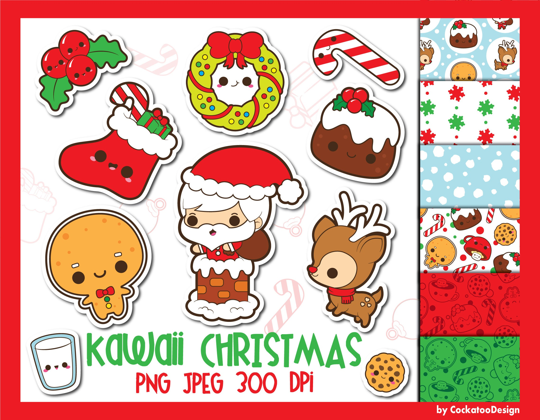 50 off christmas clipart christmas clip art kawaii
