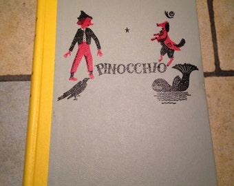 1955 Pinocchio Junior Deluxe Edition Children's Book