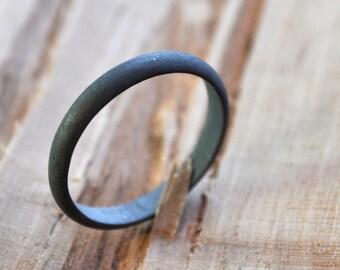 Oxidised Sterling Silver Women's Wedding Band. 3mm wide. Black. Grey. Gray. Oxidized. Women's Ring. Handmade. Custom Size. Australia.