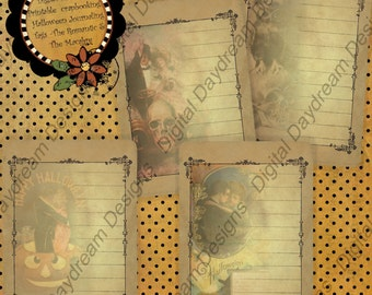 Halloween -The Romantic and the Macabre - Printable Journaling Cards Digital Download