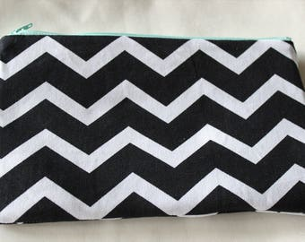 Black & White Chevron Clutch