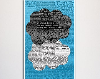Fault in Our Stars word art print - 11x17""