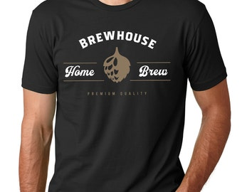 Brewhouse Home Brew T-Shirt Home Brewer Beer T-Shirt Gift Hops Design Craft Beer shirt