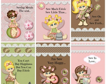 Digital Download Print OH SEW HAPPY Toppers