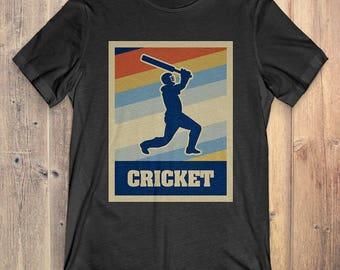 Cricket T-Shirt Gift: Vintage Style Cricket