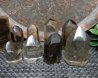 Smokey Quartz Polished Points - By Weight - Natural Smoky Quartz (OB8)