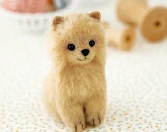 Pomeranian Dog Hamanaka Felt Wool Mascot Wool Felt Kit Designed by Sachiko Susa H441-450