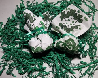 St Patrick's day or Valentine Favors-Wrapped Bath bomb Natural Organic Handmade Gifts-Bath Bombs Wrapped-Bath Fizz-Party Favors