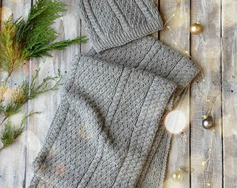 Latticework Hat and Scarf Knitting Kit 12 Days of Winter