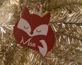 Fox Christmas ornament Fox Ornament baby christmas ornament baby ornament toddler ornament toddler christmas ornament animal ornament tree