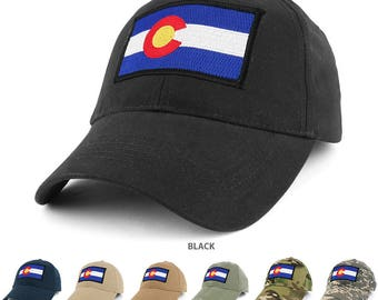 COLORADO State Flag Embroidered Tactical Patch with Adjustable Operator Cap (EC-73351-CO)