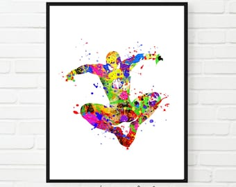 Spiderman poster, spiderman wall art, superhero art, kids room art, superhero wall art, kids room decor, boys room decor, kids room poster